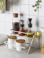 Simple Kitchen Rack Double Corner Metal Spice Rack Toilet Turn Corner Rack