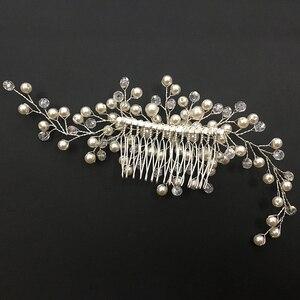 التصميم لؤلؤ مصنوع باليد دبوس العروس أغطية الرأس الشعر مشط اكسسوارات رائعة الزفاف الزخرفية هدية مجوهرات الحلي أنيقة