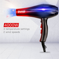 4000W Professional Travel Hair Dryer Diffuser Electric Rotating Blow Hairdryer Hair Styling Toos For Hairdressing Salon+Nozzle