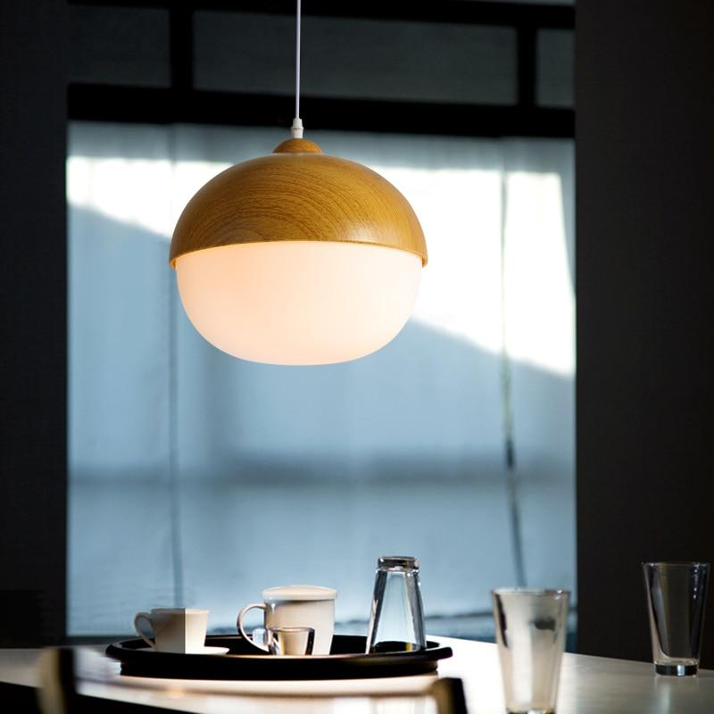 Llambadat ndriçuese Nordike me varëse alumini druri Lampshade - Ndriçimit të brendshëm - Foto 4