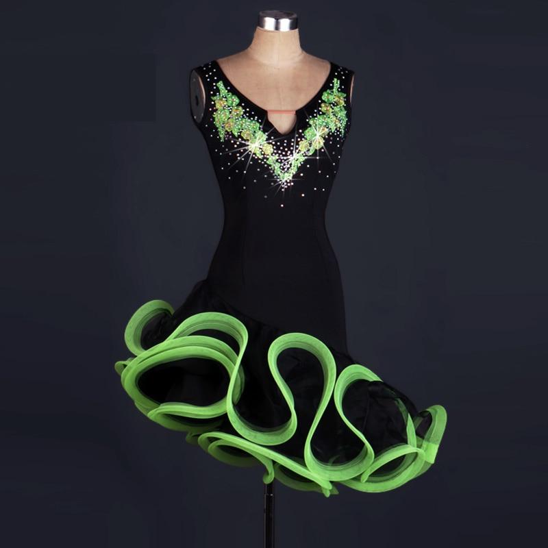 Latin Dance Dress Women Girls For Sale cha Cha Rumba Samba Ballroom Dancing Dancewear Fitness Clothes