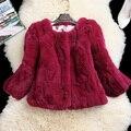 Осень и зима новый 3/4 рукавом slim с коротким женская рекс кролика шуба верхняя одежда женщин куртка бесплатная доставка g77290