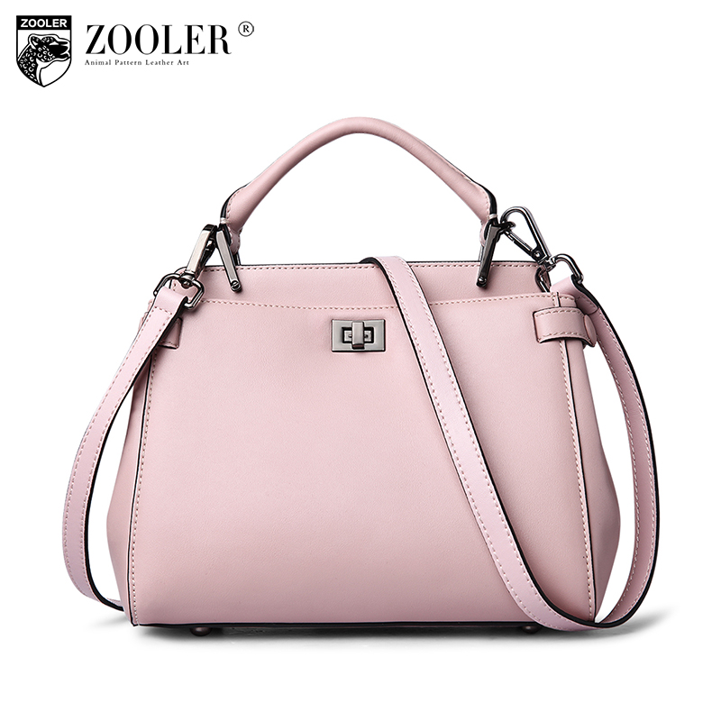 News!all in stock ZOOLER women leather bag brands genuine leather bag high end solid women bag new fashion shoulder bags #6200 stylish cat ears round sunglasses
