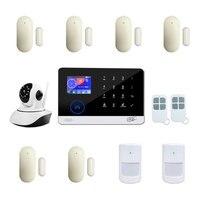 Smart Home Wireless 3G GSM Wifi Network Burglar Alarm Security System SMS Phone App Push Alert Anti Fire Wired Sensor Detector