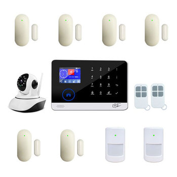 Smart Home Wireless 3G GSM Wifi Network Burglar Alarm Security System SMS Phone App Push Alert Anti Fire Wired Sensor Detector