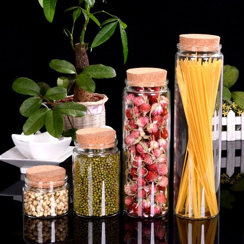 Duże szklane butelki do przechowywania szafran z korki słoiki do - Domowe przechowywanie i organizacja - Zdjęcie 1