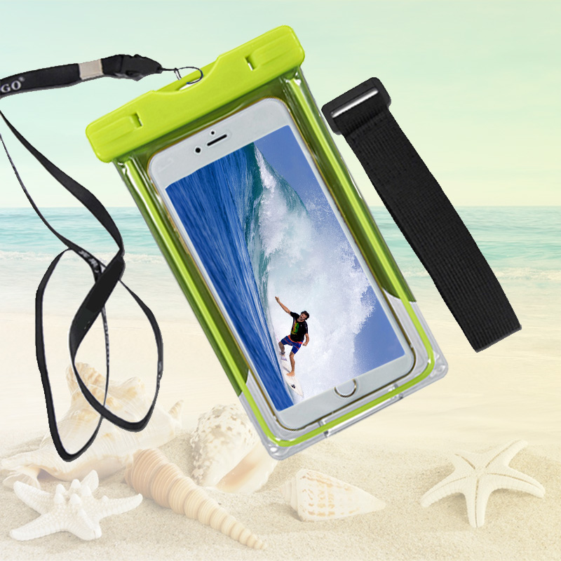Clear Underwater Waterproof Cell Phone Pouch Case For Doogee x5 max pro x6 Water proof Cover Diving Mobile Case Dry Bag Pocket