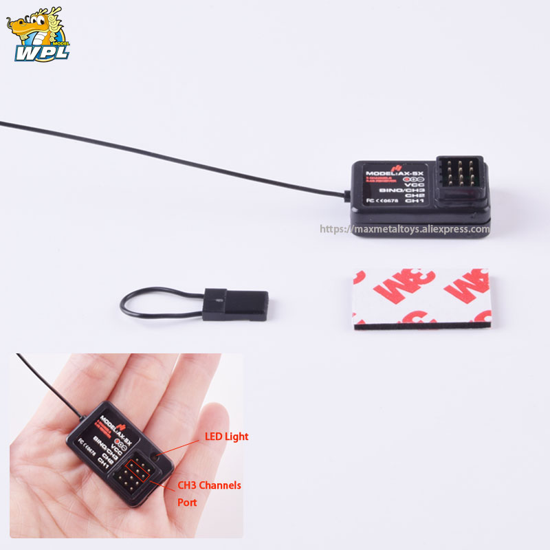 2.4G 3CH Remote Control Transmitter and Receiver for WPL C14 C14K C24