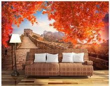 3D wall murals wallpaper custom picture mural wall paper Atmosphere Great Wall Red Leaf HD TV Backdrop wall paper home decor custom 3d wall murals wallpaper mosaic tile abstract art wall painting living room tv backdrop wall paper papier peint mural 3d