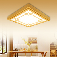 Japan China style Delicate Crafts Wooden Frame led ceiling lights luminarias para sala dimming led ceiling lamp