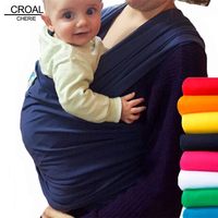 CROAL CHERIE Saddle Baby Carrier Organic Cotton Ergonomic Baby Carrier 360 Kids Back Pack Stretchy Ring