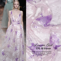 Super Pre Silk Fabrics The Mulberry Silk Fabrics Burnt Out Xiao Pink Jacquard Silk Wedding Dresses