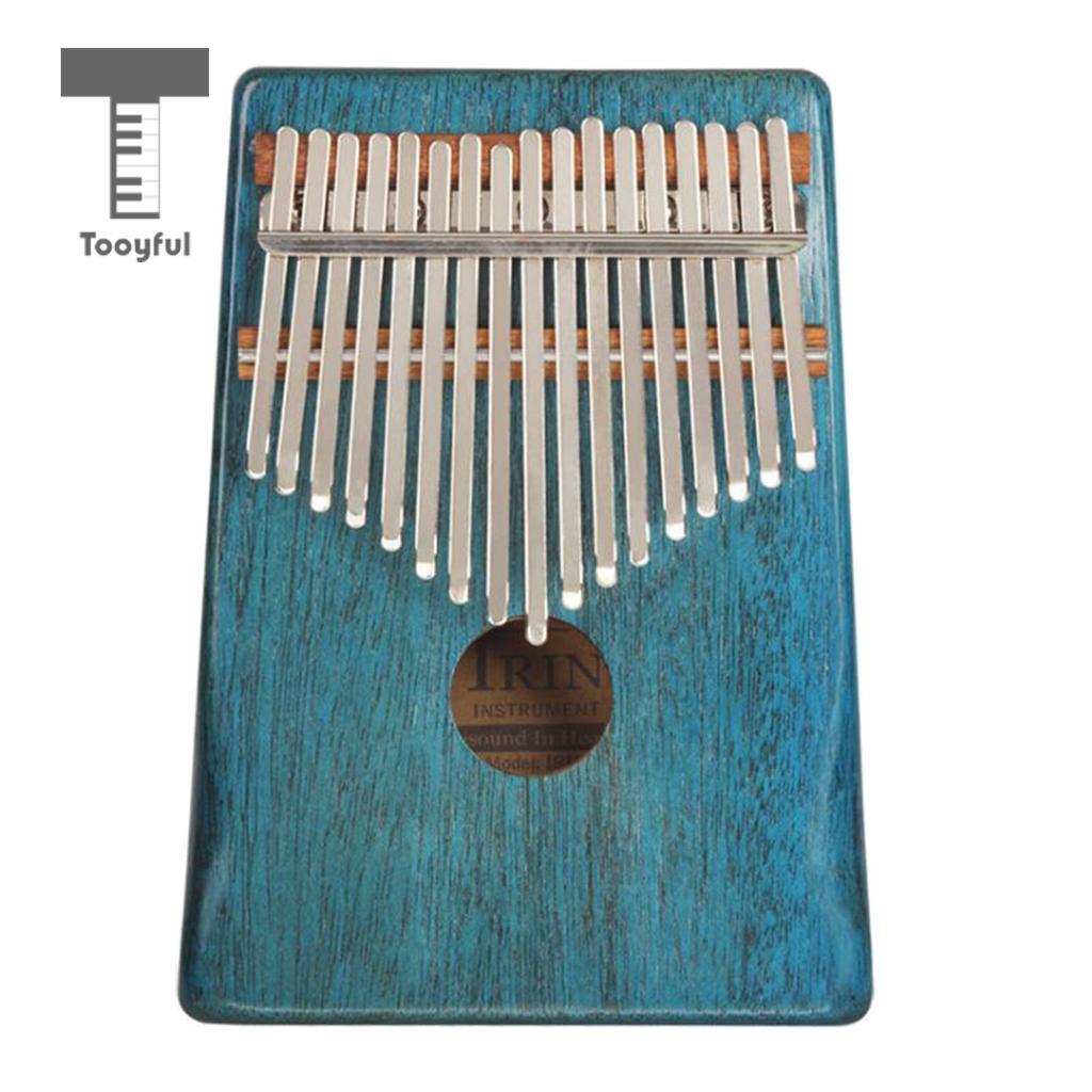 Tooyful 17 Key Mahogany Kalimba Finger Percussion Thumb Piano Mbira for Kids Music Edurational Toys Musical Instrument Gift Blue irin professional mini 17 key accordion educational keyboard musical instrument for both kids