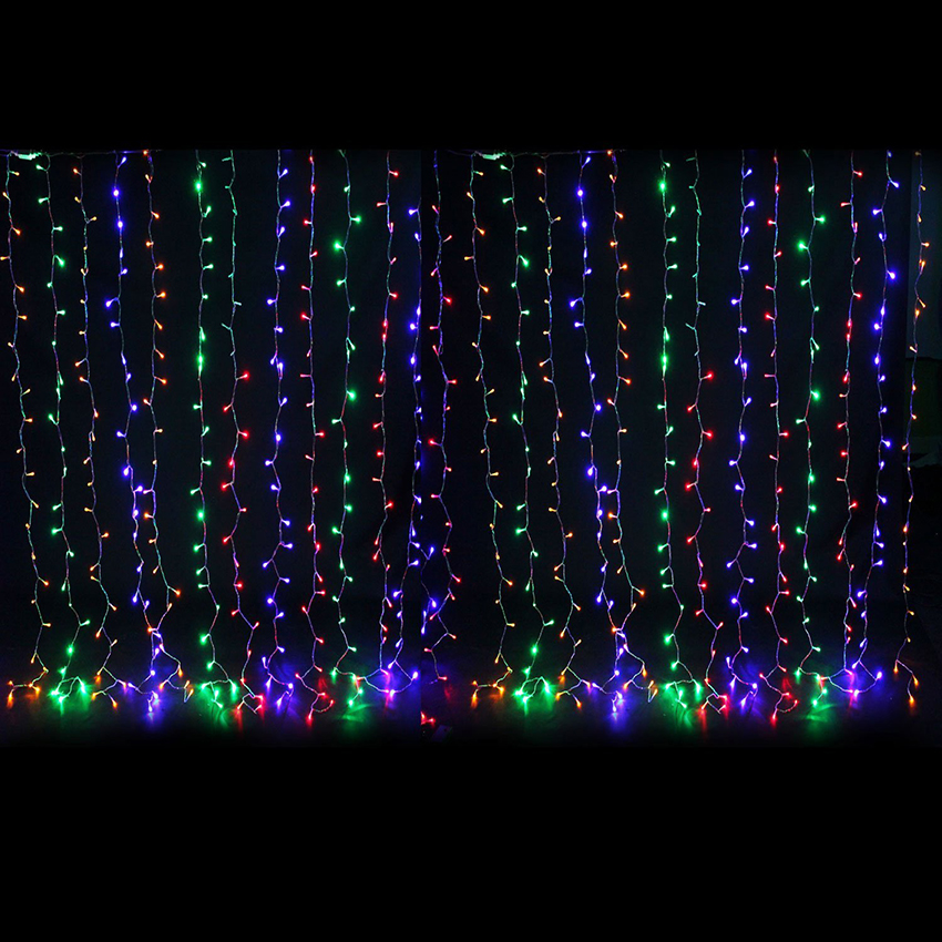 3M*3M 6M*3M LED Icicle Curtain String Lights Xmas Party Christmas Fairy String Light for Home Holiday Wedding Garden Decoration