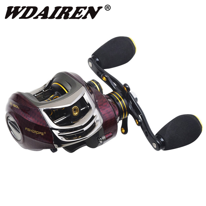 NEW Carbon Baitcasting Reel 17+1 BB Super Light Casting Reel Centrifugal and Magnetic Brake System Bass Fishing Carp Fishing haibo overlord super light carbon fiber handle baitcasting fishing reel 5 4 1 8bb 1rb saltwater freshwater magnetic brake system