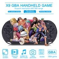 Nueva Llegada X9 5.0 Reproductor de Juegos Portátil De Pantalla Grande TV Hacia Fuera Puesto Con MP3/Cámara de Cine de Vídeo Multimedia Consola de juegos