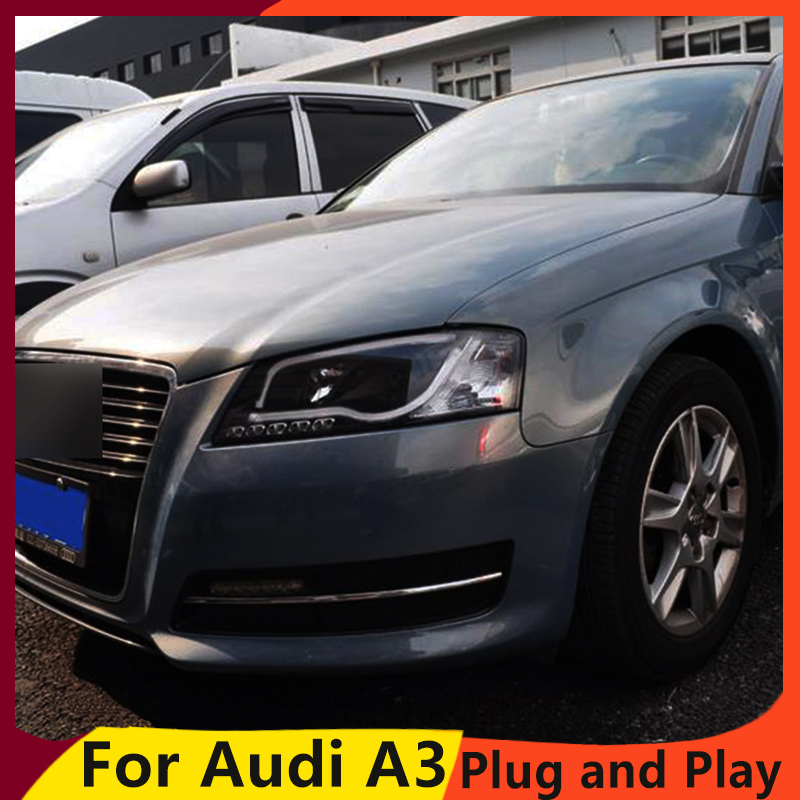 KOWELL Car Styling Car Styling For AUDI A3 headlights 2008-2012 For A3 head lamp led DRL front Bi-Xenon Lens Double Beam HID KIT