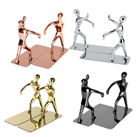 1 Pair Anti slip Kungfu Man Book Ends Bookends Book Holders Desktop Book Stand for Restaurant Home Office School Decoration