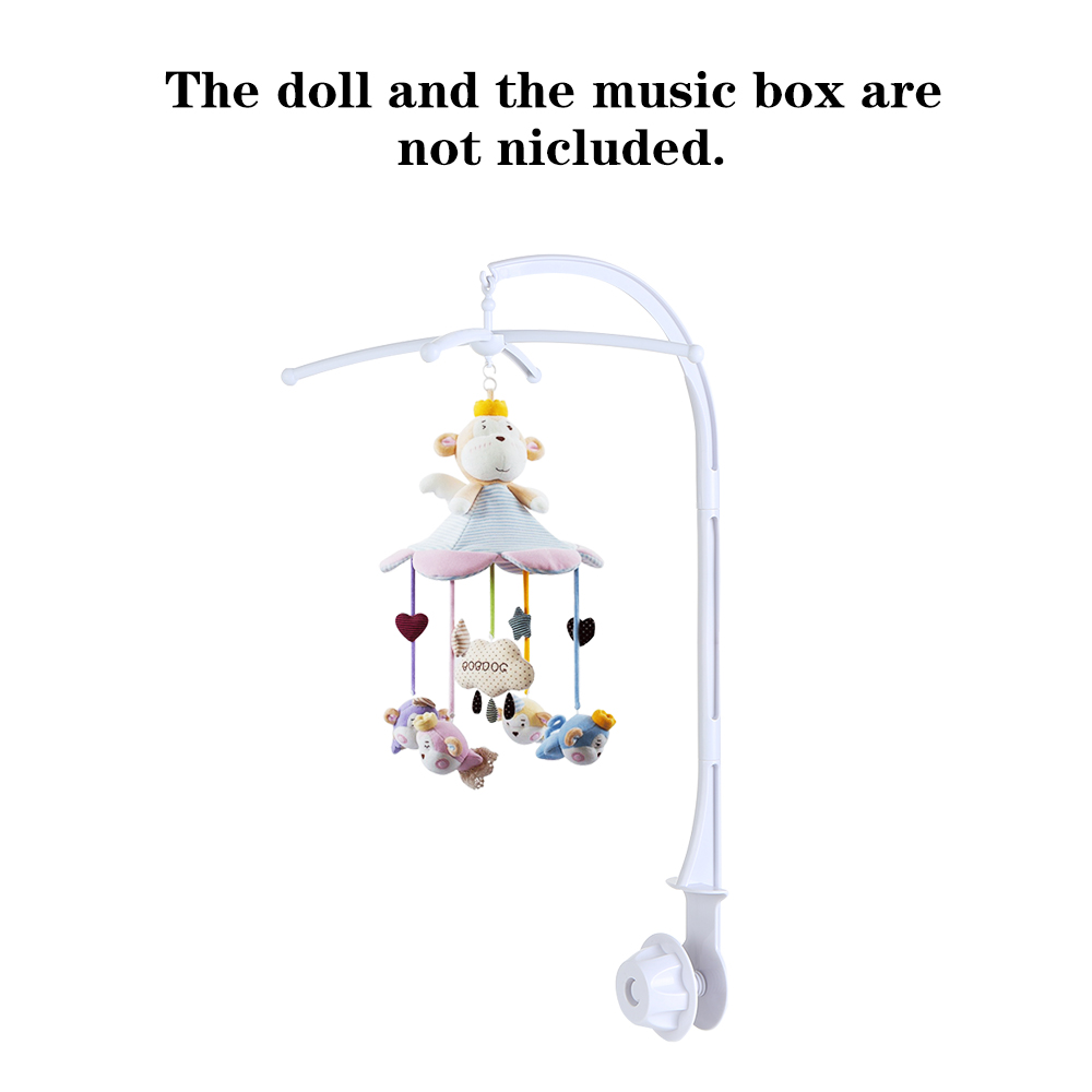 Newest Baby Mobile Arm Bracket Crib Bed Bell Music Box Holder DIY Toy Supply