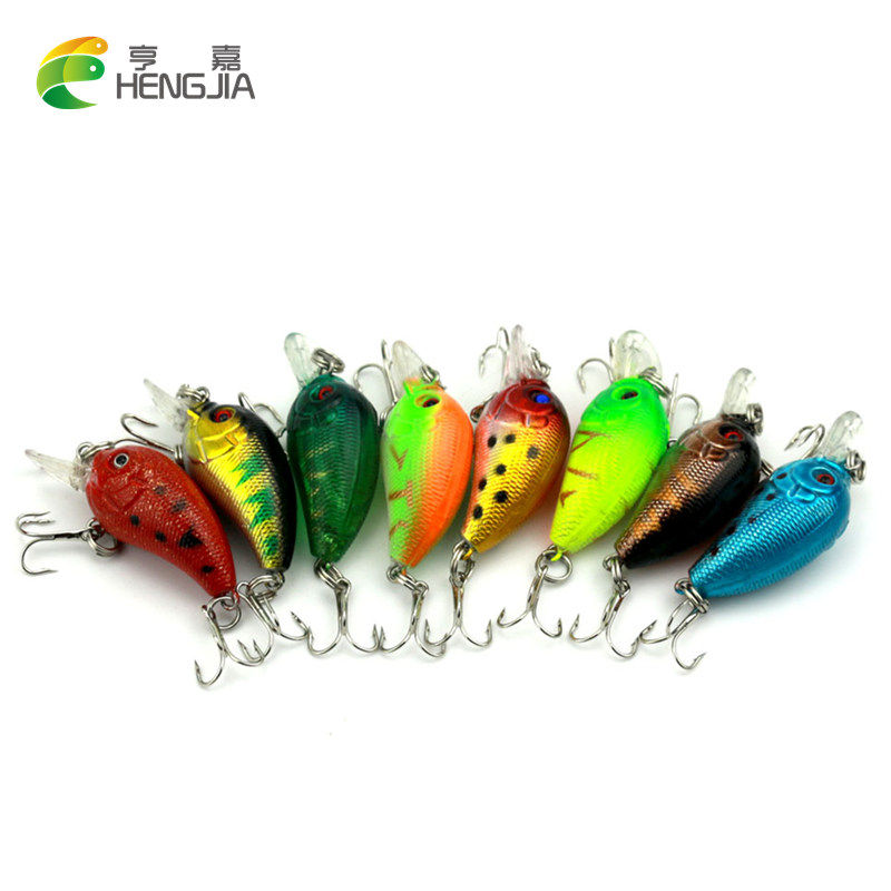 20 шт. 3D Crank bait 8 цветов 4.2 г/4.5 см Высокое Качество Рыбалки приманки 10 # Крюк Дайвинг глубина 0.3 м-0.9 м рыболовные снасти Бесплатная Доставка