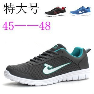 2014 Real Medium(b,m) Hot Selling! 3 Colors free Shipping Men's 45 46 47 48 Plus Size Gauze Light Breathable Casual Shoes Sport
