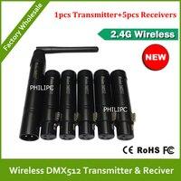 Vender DHL envío gratis nuevo controlador DMX inalámbrico XLR 2,4 GHz