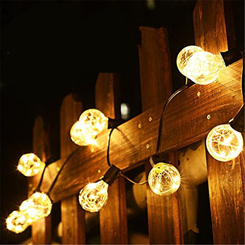 1x G40 Christmas Lights ,Globe String Light 25LED Bulb Outdoor Decorative String Lights for Garden, Patios,Home Decor , Wedding globe fairy string bulb lights for indoor outdoor wedding christmas xmas thanksgiving party events home roof decor colorful