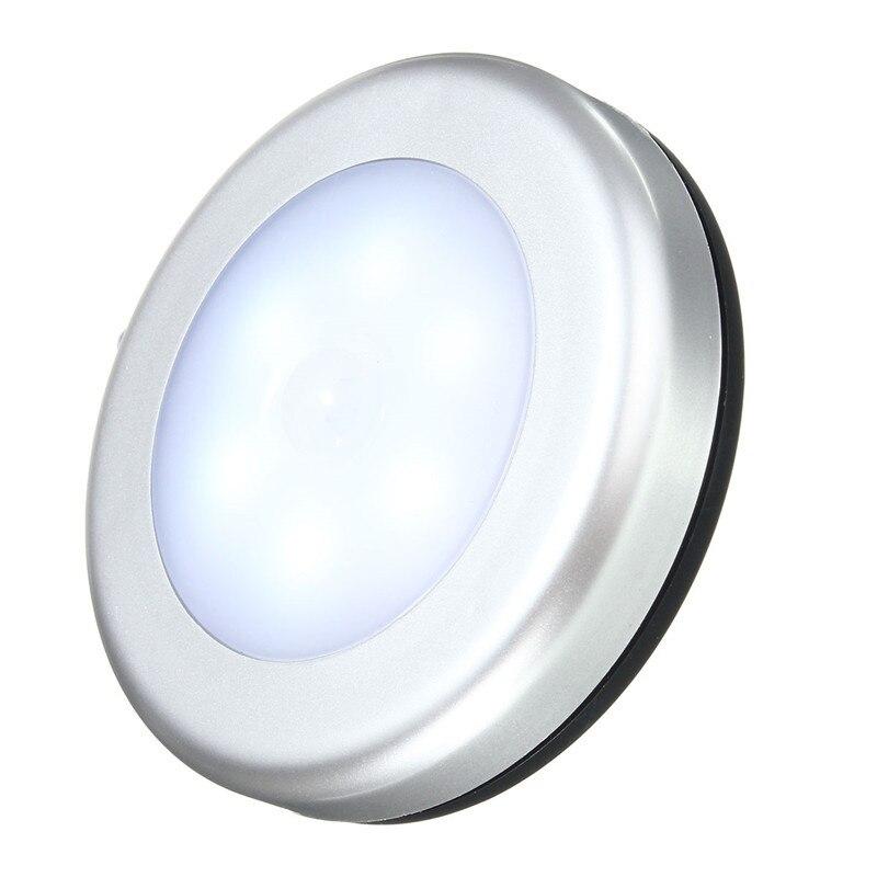 Jiguoor LED Night Light Indoor Lighting Fashion 6LED Wireless PIR Motion Sensor Light Cabinet Wardrobe Wall Lamp Battery Powered