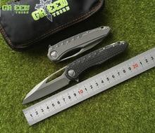 Зеленый шип sigil MK6 Флиппер складной Ножи M390 лезвие CF Титан ручка общего Охота открытый Тактический выживания EDC инструмент