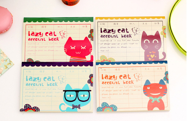 Kawaii Lazy Cat Notepad Notebook For Account Book School Office Composition Books Supplies Planner Gift