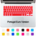 Portugal Euro Version layout Silicone UK/EU Keyboard Protector Cover Stickers Skin For Macbook Air 13 Pro 13 15 17 Retina