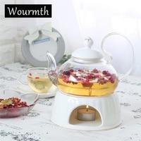 Wourmth Tea garden tea set glass ceramic heating transparent teapot teapot flowers and fruits