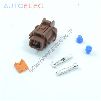 50kit 2Pin way female automotive waterproof PBT ABS Speed Sensor Wire connector for Wiring harness Tyco TE AMP INFINITI NISSAN