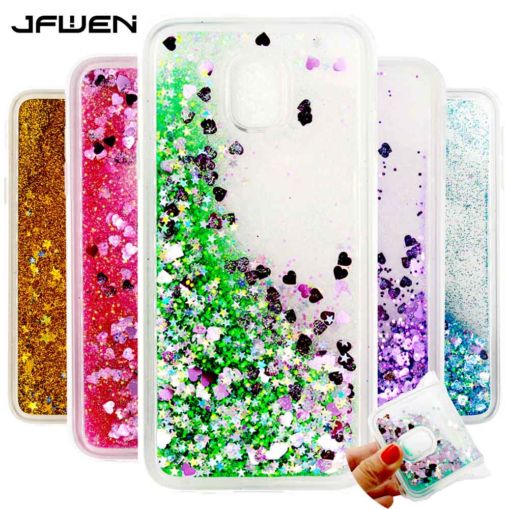 jfwen for samsung galaxy j3 2017 case cover silicone soft tpu clear transparent liquid for coque