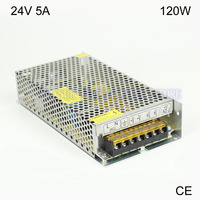 High Quality 24V 5A 120W Switching Power Supply Driver For LED Strip AC 110 230V Input
