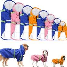 Waterproof Coat Dogs Raincoat Pet Clothes Dog Jacket Reflective Clothing Small Medium Large Labrador Retriever