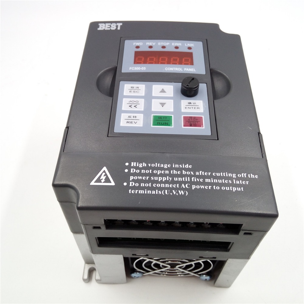 cnc spindle motor speed control 1 5kw 2hp 7a 1000hz 1ph single phase ac220v vfd inverter for printing press in inverters converters from home improvement  [ 1000 x 1000 Pixel ]