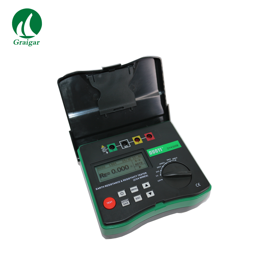 Digital DY4300B 4 Terminal Earth Ground Soil Resistivity Tester Measures Frequency 400~500Hz-in Resistance Meters from Tools    2