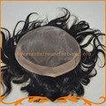 Мужские волосы частей базы моно и НПУ парики реми волосы прямые волны парик невидимый узел бесплатная доставка