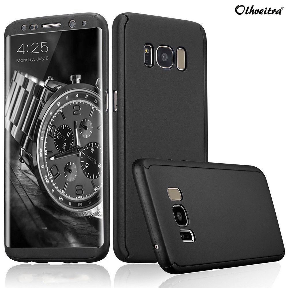 360 Full Coverage Bag For Samsung Galaxy S8 S8 Plus Cover Phone Cases Case Accessories + Tempered Glass For Samsung S8 S8 Plus