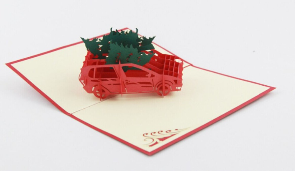 Christmas tree on the car/3D pop up  card/Christmas cardFree shipping the impact on section 3 d on indian pharmaceutical industry