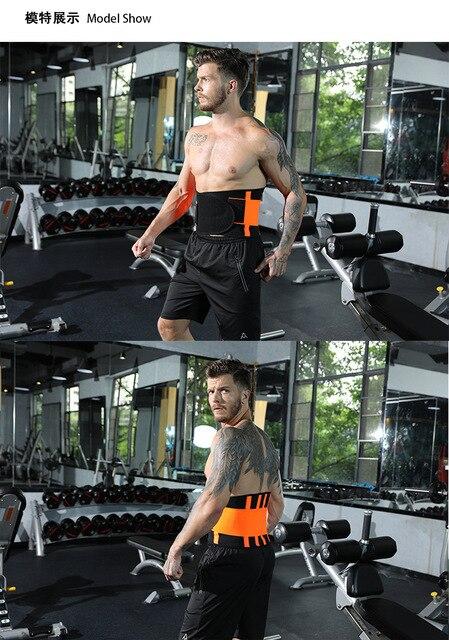 Men And Women Waist Support Belt Neoprene Plus Size Slimming Sweat Belt Women Waist Support Back Support Fitness Waist Trimmer 3