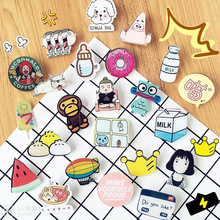 1 pcs lovely cartoon icons in the Kawaii Pin badge icon Bacges backpack badges acrylic clothing plates