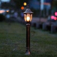 Купить с кэшбэком Fashion garden lawn lamps vintage outdoor lights gazebo road lamp backyard lawn bollards decoration lighting WCS-OLL002