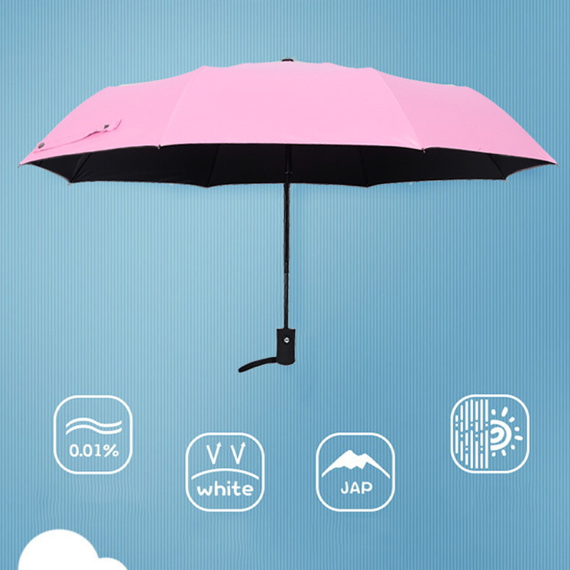 Wind Resistant Folding Automatic Umbrella Windproof Travel Rain Sun Umbrellas with Auto Open Close Button SDF SHIP in Umbrellas from Home Garden
