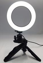 Hình Vòng ĐÈN LED 14.5 cm Chụp Ảnh Chiếu Sáng + Chân Máy Điện Thoại Chụp Ảnh Quay Phim Vòng Đèn Dây USB 3000 k 6000 k Màu Vàng