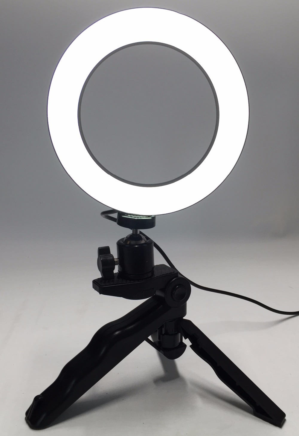 Photograph Ring Led 14.5Cm Photographic Lighting+Tripod Cellphone Video Images Ring Gentle Usb Line 3000Ok-6000Ok White Yellow Colour