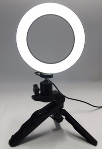 Image 1 - Photo Ring LED 14.5cm Photographic Lighting+Tripod Phone Video Photography Ring Light USB Line 3000k 6000k White Yellow Color