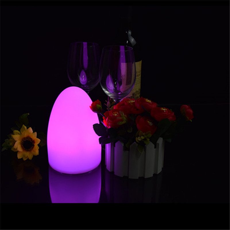 D10*H15cm 1 piece/lot best selling cordless battery charge led egg light for the home decor