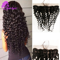 10A Cheap Brazilian Deep Wave Lace Frontal Closure 13x4 Virgin Human Hair Lace Frontal With Baby Hair Full Lace Frontals Closure
